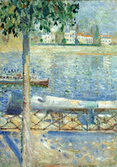 Munch, Edvard: The Seine at Saint-Cloud. Fine Art Print/Poster. Sizes: A4/A3/A2/A1 (0094)